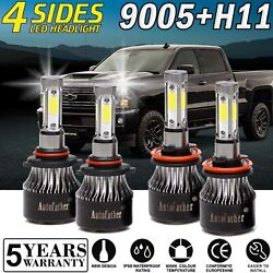 Combo LED High Low Beam for Chevrolet Silverado 2500 HD 08-2019 Headlight Bulbs
