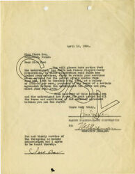 CLARA BOW - CONTRACT SIGNED 04121926 CO-SIGNED BY: SAM (PRODUCER) JAFFE