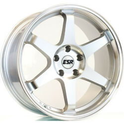 4 - 18x8.5 Machined Wheel ESR SR07 5x4.5 30