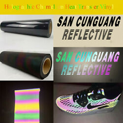 Rainbow Color Holographic Chameleon Heat Transfer Vinyl HTV Reflective Film