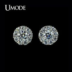 UMODE Top Quality Women's Silver Summer Jewelry White Copper Stud Post Earrings