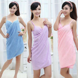 Bath Wearable Towel Dress Girls Women Womens Lady Fast Drying Beach Spa Magical