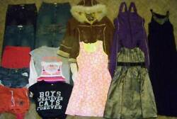 GIRLS Sz 12 CLOTHING LOT 16pc JEANS SHORTS TOPS DRESSES COATS JUSTICE GAP PLACE $45.00