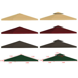 10x10#x27; Outdoor Gazebo Top Tent Cover Pop Up Sunshade Canopy Replacement 1 2 Tier $38.88