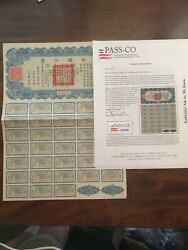 Republic Of China. 1937 Liberty Bond Issued For CN$5 Bearing 4% Interest