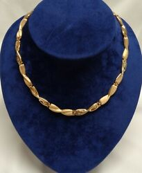 Fine Fancy NecklaceCollar 9ct Yellow Gold - Length 16.5in (41.9cm) - 18.8g