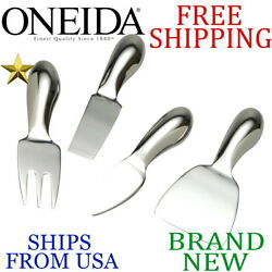 *New* ONEIDA 4pc Piece CHEESE TOOL SET Stainless Steel Mirror Polish Lifetime