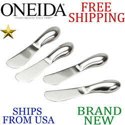 *New* ONEIDA 4pc Piece CHEESE SPREADER SET Stainless Steel Mirror Polish Quality