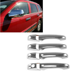For 11-19 Jeep Grand Cherokee Full Chrome Mirror Covers + 4 DR Handle Cover WKH