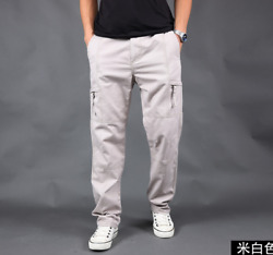 Mens Trend Multi pocket Outdoor Pants Jungle Multi function Pure Colors Trousers $45.12