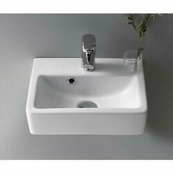 001400 U One Hole Mini Rectangle Ceramic Wall Mounted Vessel Sink White $186.99