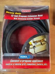 Camco 12ft Heavy Duty  RV Propane Extension Hose Connects RV Propane Supply