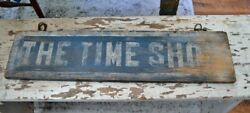 Antique Wooden Double-Sided Trade Sign *
