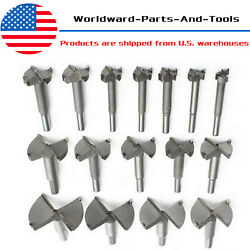 16pcs Forstner Drill Bit Set Woodworking Hole Saw Cutter Clean Cutting 15-35mm