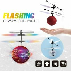 Electric LED Light Flying Ball Helicopter RC Sensor Drone UFO Flash Kids Toys $4.89
