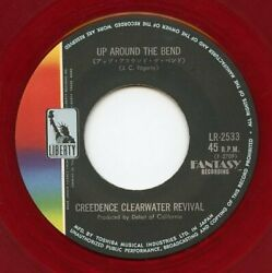 CREEDENCE -- UP AROUND THE BEND - RED VINYL 45 & PICTURE SLEEVE -- '70