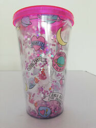 500ml Double Wall Unicorn Plastic Tumbler Drinks Cup With Lid and Straw $12.90
