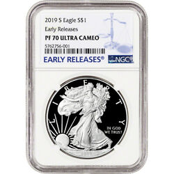 2019-S American Silver Eagle Proof - NGC PF70 UCAM - Early Releases