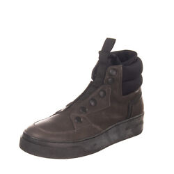 RRP €375 BRUNO BORDESE Leather Sneakers Size 40 UK 6 US 7 High Top Made in Italy