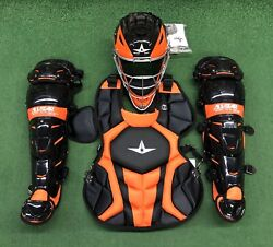 All Star System 7 Axis Youth 10-12 Catchers Gear Set - Black Orange $349.95