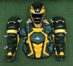 All Star System 7 Axis Youth 10-12 Catchers Gear Set - Dark Green Gold $349.95