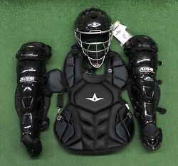 All Star System 7 Axis Youth 10-12 Catchers Gear Set - Solid Black $349.95