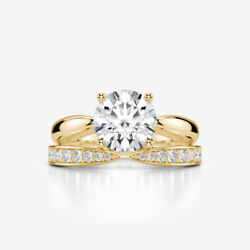 LADY DIAMOND BAND RING VS2 D 18 KARAT YELLOW GOLD ACCENTS COLORLESS 2.2 CT