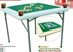Domino Games Table And For Other Table Games With 4 Cups Drink HolderLarge $114.99