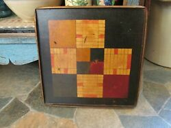 ANTIQUE VINTAGE WOODEN GAME BOARD QUILT PATCH BOARD  ?????
