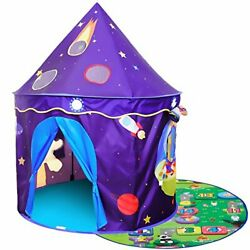Homfu Play Tent for Kids Castle Playhouse with Space Pattern for Children for An