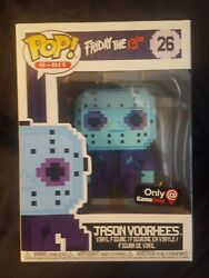 Funko Pop! 8-bit Friday The 13th Jason Voorhees Game Stop Exclusive #26 *NEW*