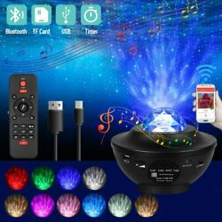 LED Galaxy Starry Night Light Projector Ocean Star Sky Party Speaker Bluetooth $31.99