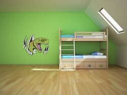 113 03 T Rex Ripping Through Wall kids fun educational Dinosaur home Decor Mural $19.99