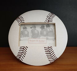 BASEBALL PICTURE FRAME Connoisseur#x27;s Heart amp; Home Frames hold 3.5 x 5 photo $4.00