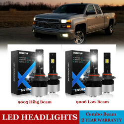 9005 9006 LED Headlight Bulbs for GMC Sierra 1500 2500 HD Yukon 2000-2006