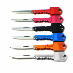 Stainless Folding Pocket Key Shape Mini Knife Outdoor Hunting Camping Blade $7.99