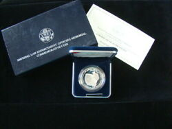 1997-P U.S. Mint Proof National Law Enforcement Officers Silver Dollar Coin Nice