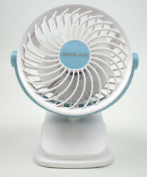 Opolar Rechargeable Battery Operated Clip On Desktop Fan with 4 Speeds White $19.55