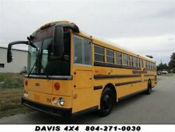 2004 THOMAS SCHOOL BUS Built Pusher Style Flat Nose Cab Over 2004 THOMAS SCHOOL BUS Built Pusher Style Flat Nose Cab Over 12393 Miles Yellow