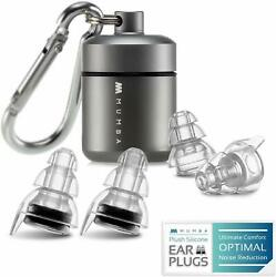 High Fidelity Concert Earplugs Reusable Musicians Ear Plugs 24dB Advanced Filt $22.28
