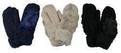 Women#x27;s Mittens Gloves with Faux Fur Warm Winter Fall Cute Knitted $10.99