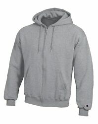 Champion Hoodie Sweatshirt Eco Double Dry Fleece Full Zip Front Pockets sz S 3XL $36.00