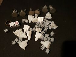 Monopoly Lord of the Rings Pieces plastic Strongholds Fortress Metal Figs