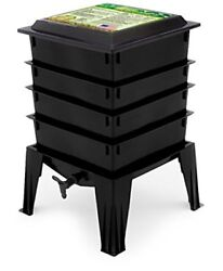 Worm Factory 360 WF360B Worm Composter Black Natures Footprint Fast Shipping $179.95