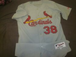 2000#x27;s St. Louis Cardinals Game Used Road Jersey #38 Marty Mason LOA $275.00