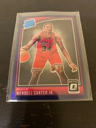 2017-18 Rated Rookie Optic Prizm Wendall Carter Jr Bulls Blue
