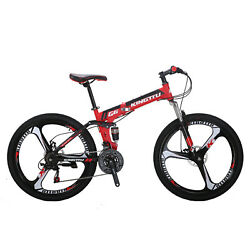 26quot; Folding Mountain Bike Full Suspension Foldable frame Shimano21 Speed Bicycle $319.00