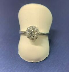 18K WG DIA RING (GIA: 0.51CT D SI1) VALUED:$7250 (SIDE: 0.089CT)