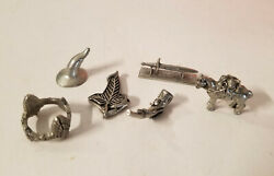Lord of the Rings Monopoly Collectors Series 6 Pewter Tokens Movers Pieces