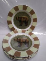 Set of 4 Cypress Home Plates Bear 8 1 4quot; $18.50
